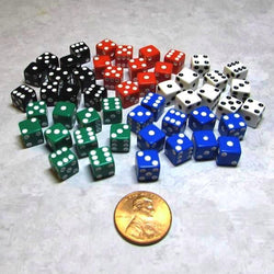 "Koplow Games Fifty Opaque 5/16"" (8mm) Multi-Color Dice"