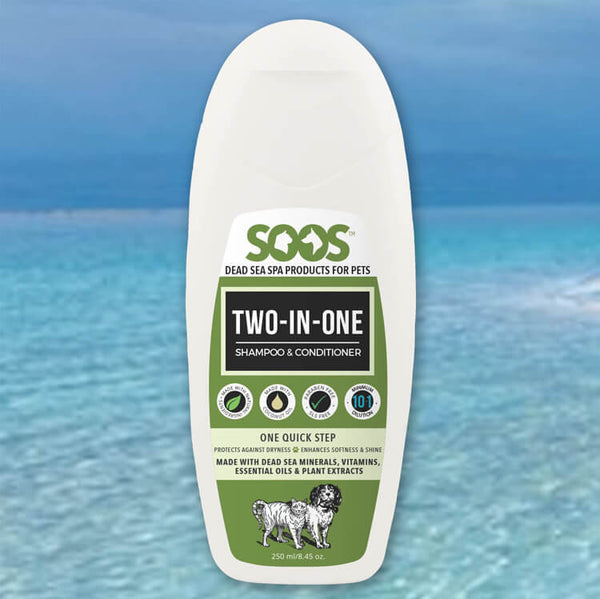 Natural Dead Sea Two-In-One Pet Shampoo & Conditioner For Dogs & Cats