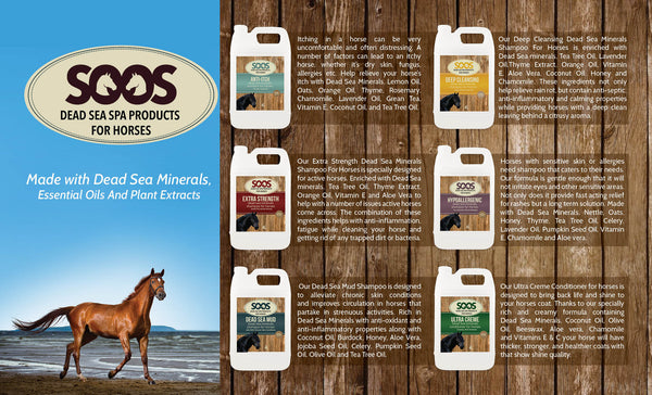 Soos Hypoallergenic Dead Sea Mineral Shampoo For Horses