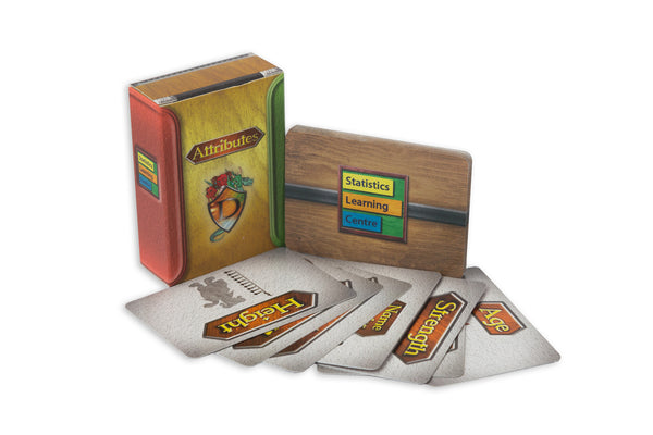 Dragonistics Data Cards 240 mini-card deck, with a set of 56 Attribute cards