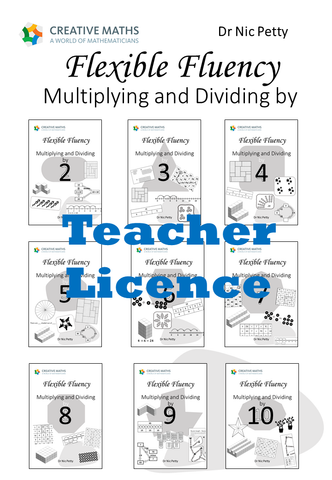 Flexible Fluency Multiplication Compilation: 2 to 10 times tables. One teacher licence.