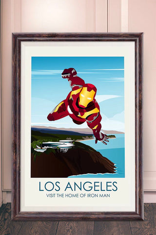 Ironman Inspired Framed Travel Print