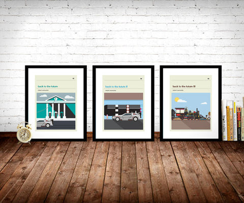 Back To The Future Trilogy Inspired Framed Prints