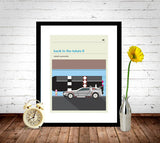 Back To The Future 2 Inspired Framed Print
