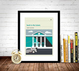 Back to the Future 1 Inspired Framed Print