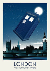Dr Who Inspired Framed Travel Print