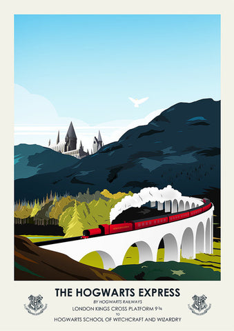 Harry Potter Inspired Framed Travel Print