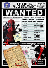 Deadpool Inspired Framed Wanted Print
