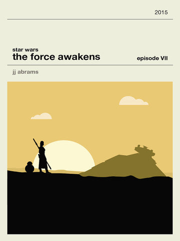 Star Wars The Force Awakens Inspired Framed Print
