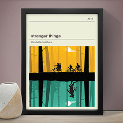 Stranger Things Inspired Framed Print