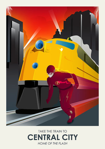 The Flash Inspired Framed Travel Print