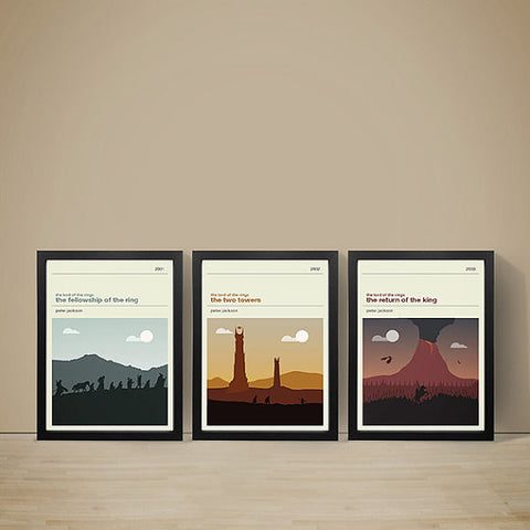 Lord of the Rings Trilogy Inspired Framed Prints