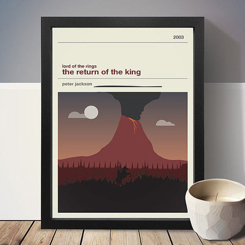Lord of the Rings - The Return of the King Inspired Framed Print