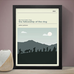 Lord of the Rings - The Fellowship of the Ring Inspired Framed Print