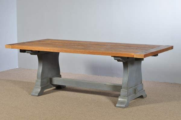 Farm Table with Tuscan Trestle Base