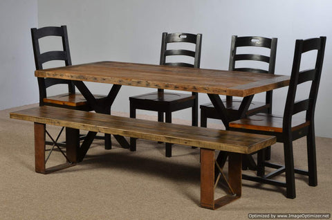 "Farm Table with 2"" Steel Tube X Legs"