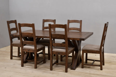 "Harvest Table 75"" Complete Set Coffee Bean other colors available"