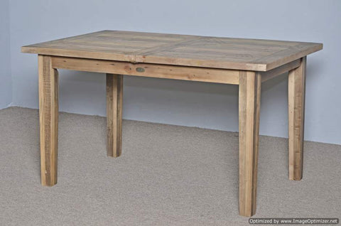 Small Butterfly Extension Farm Table Rustic Natural