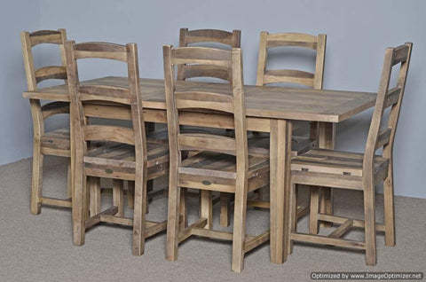 Small Butterfly Extension Farm Table with 4 Chairs Rustic Natural ON SALE $1000 OFF