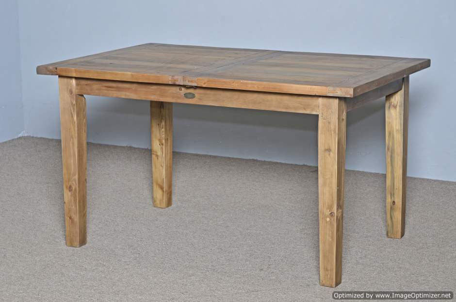 Small Butterfly Extension Farm Table Nobu Natural Restored Timbers - Natural wood farm table
