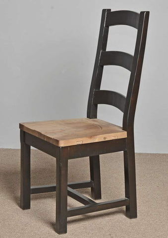 Ladder Back Chair Nobu Natural/Espresso