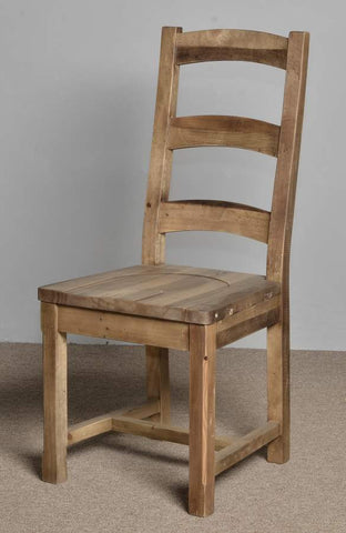 Large Ladderback Dining Chair Rustic Natural