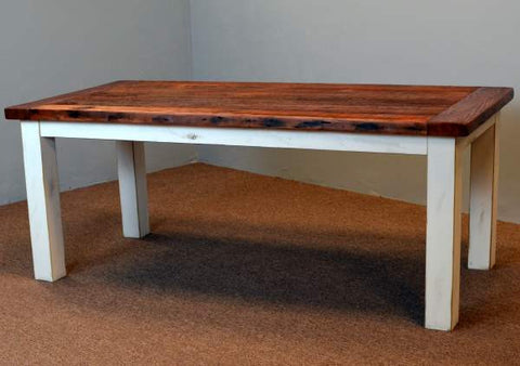 Farm Table with Straight Wood Legs