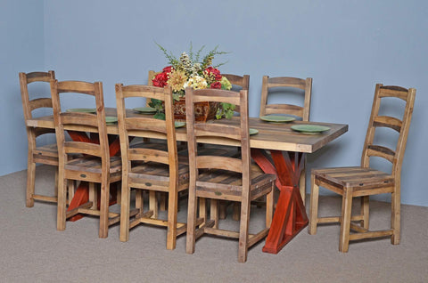 "Harvest Table 84"" Complete Set Rustic Natural other colors available"