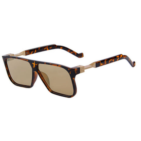 2016 Style Rectangle Sunglasses Leopard Brown