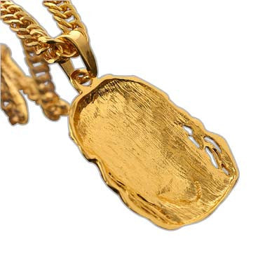 24K Jesus Piece Chain and Pendant Back