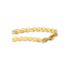 24K Yellow Gold Rope Chain Bracelet Color