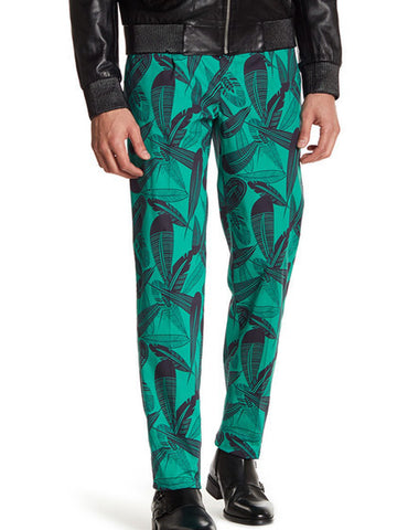 Versace Feather Mint Pants