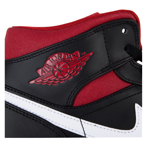 Air Jordan 1 Mid Black Gym Red White