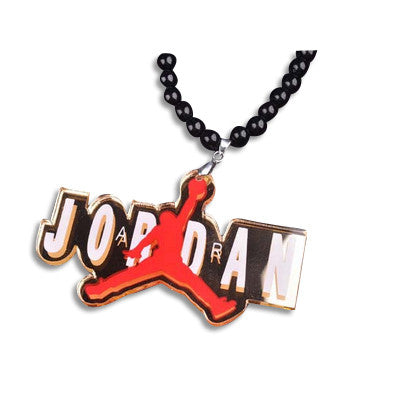 Air Jordan Bead Acrylic Necklace