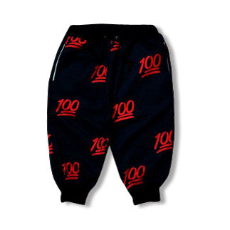 Black Red Hundred Dollar Jogger Shorts