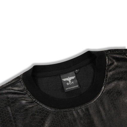 Boy London Leather Shirt with Side Zippers Collar