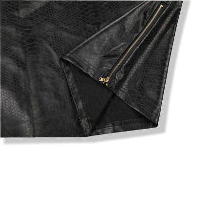 Boy London Leather Shirt with Side Zippers