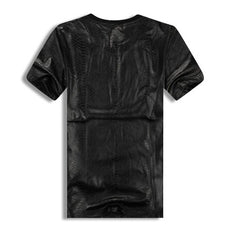 Boy London Leather Shirt with Side Zippers Rear