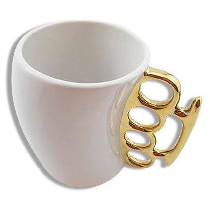 Brass Knuckles Coffee Mug Above View