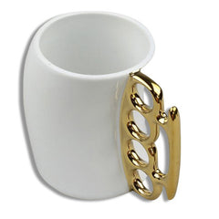 Brass Knuckles Coffee Mug Rear