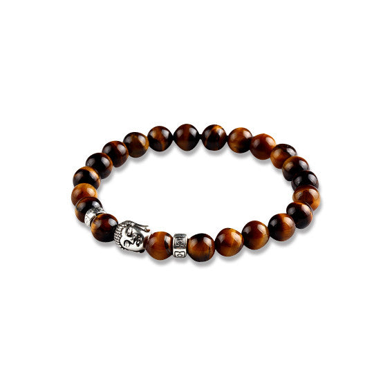 Buddha Stone Beads Brown