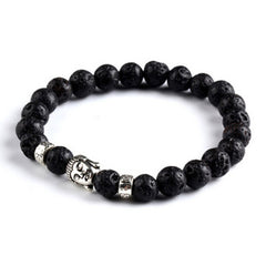 Buddha Stone Beads Black