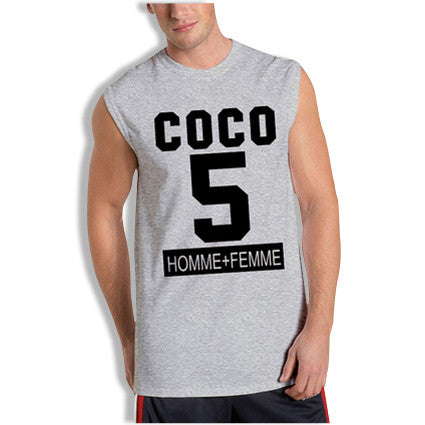 COCO Homme+FemmeLA Sleeveless T-Shirt Black