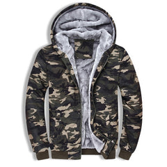 Camo Jacket with Fur Lined Interior
