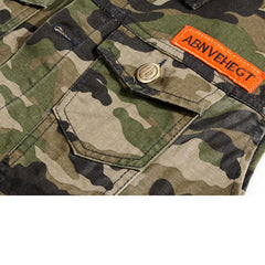 Camo Military Style Streetwear Vest Chest Closeup