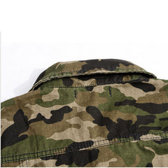 Camo Military Style Streetwear Vest Collar