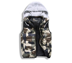 Camo Vest with Cotton Hoody Green