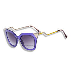 Cat Eye Temple Sunglasses Purple