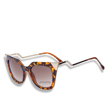 Cat Eye Temple Sunglasses Tortoise