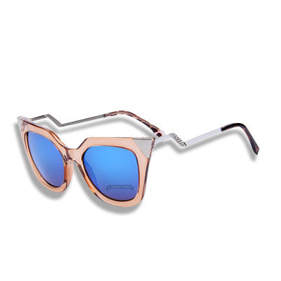 Cat Eye Temple Sunglasses Light Pink